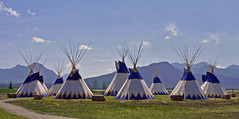 Teepee Village (njchow82) Tags: mountains scenic alberta tipi dwellings teepees nativenorthamericans beautifulexpression almostanything njchow82 dmcfz35