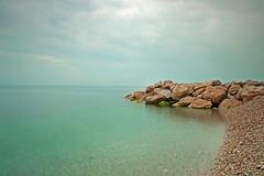 Rocks (HR.B) Tags: ocean blue sea sky seascape color beach water beautiful beauty stone canon rocks filter nd 1750 split tamron hitech hrvatska 50d