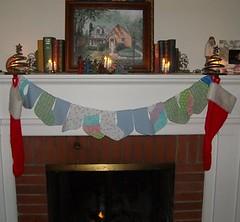 Xmas stocking bunting
