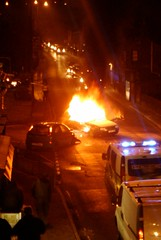 Smash in Mytholmroyd. (Portlandbill) Tags: news car fire crash accident burn calderdale mytholmroyd looknorth