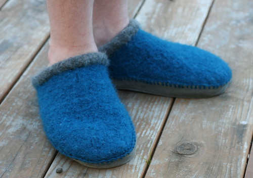 Bryan's Felted Clogs