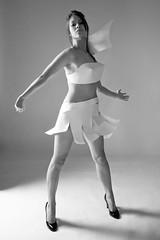 space girl (Buldrock) Tags: portrait bw paper ritratto biancoenero dressage buldrock vestitodicarta