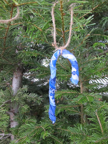 Candy Cane fabric Ornaments 2