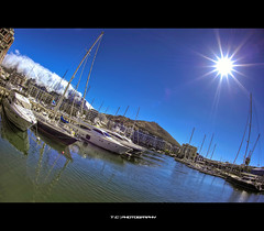 Marina (iPh4n70M) Tags: africa ca blue sea sky sun mer clouds port marina boats photography soleil town photo nikon marine photographer photographie south marin capetown fisheye bleu ciel photograph le tc cape nikkor nuages bateau 16mm hdr cpt photographe 9xp d700 9raw tcphotography ph4n70m iph4n70m tcphotographie