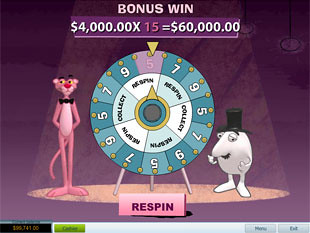 free Pink Panther slot bonus game 3