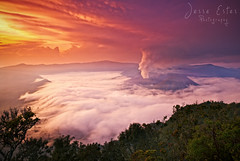 Mount Bromo - East Java, Indonesia (Jesse Estes) Tags: fog sunrise indonesia volcano java smoke east mountbromo jesseestesphotography