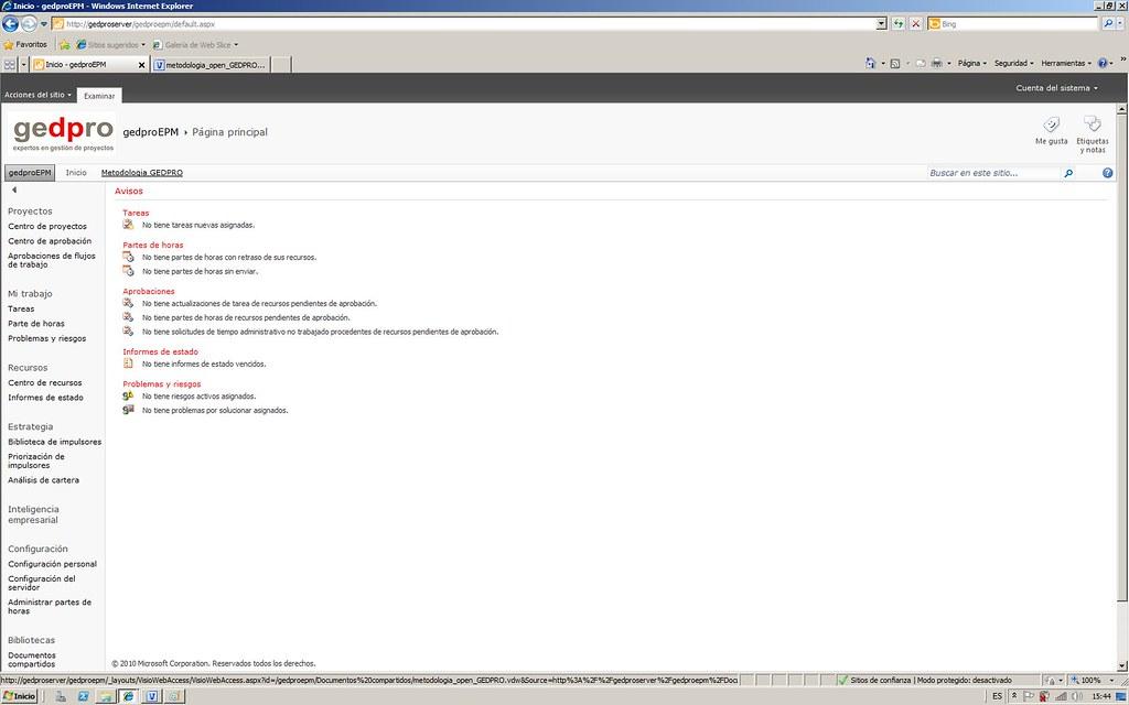 metodologia open y Project Server 2010