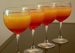 Tequila Sunrise (HarlanH) Tags: red food orange dinner tequila drinks alcohol brunch layers cookingclub