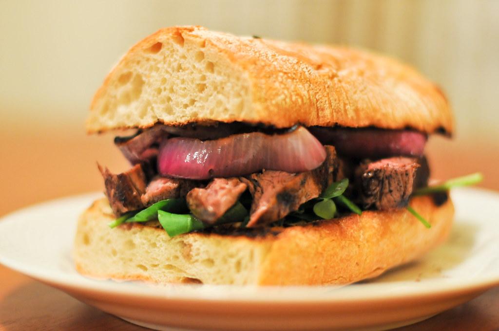 Guinness-Marinated Steak Sandwiches