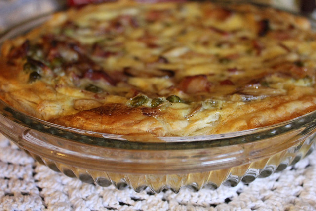 Bacon, Pea and Mushroom Pie