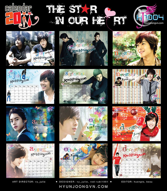 Kim Hyun Joong 2011 Calendar by Hyun Joong Vietnam