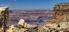 The Grand Canyon from Moran Point (adzamba) Tags: 2016 grandcanyon arizona unitedstates usa desertviewdr moranpoint coloradoriver fiume rapide rapids river unkarcreek