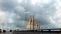 Bridge (theara thou) Tags: yellow city cloudscape black white moody photography bridge cambodia photos outdoor sky