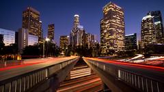 Los Angeles (Jeffery P.) Tags: light trails losangeles la california socal bluehour