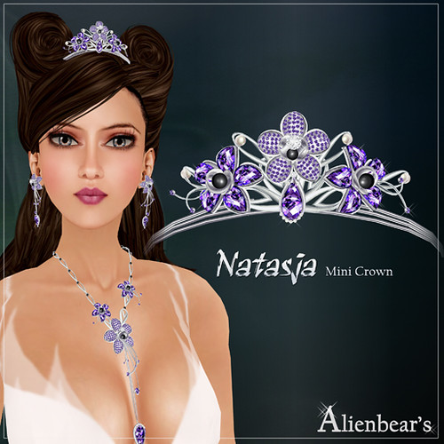 Natasja mini crown purple