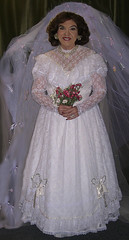 Me, in vintage Victorian gown. (Sugarbarre2) Tags: show california flowers blue wedding light red people woman baby white hot love girl smile face fashion self fun bride photo cool nikon long lace femme flash style babe mature wife frills petticoats 365days