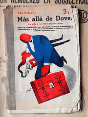 """""""Mas all de dover"""", portada de Manolo Prieto (obaku estudio) Tags: 1940 ilustracin manoloprieto diseogrficoantiguo"""