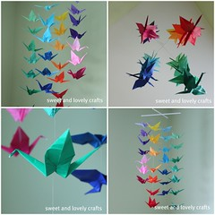 origami crane mobile (sweet & lovely crafts) Tags: mobile origami origamicrane