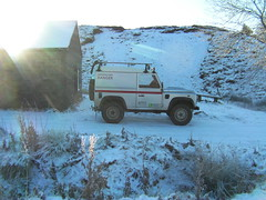 Land Rover (thepicturedrome) Tags: park rescue mountain snow buxton ranger cheshire district derbyshire peak rover national valley land service dane goyt