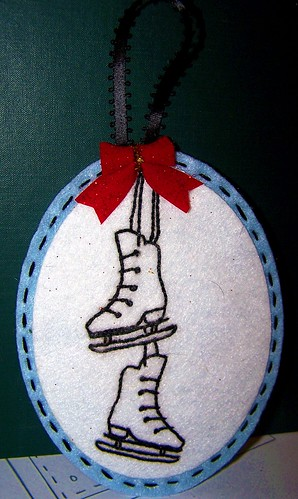 Iceskate Christmas Ornament
