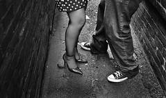 a [Couple] of Feet (S c o t t y | J a m e s | K u n k e l) Tags: pictures old b boy bw white black brick feet girl way photography foot engagement ally nikon couple rocks shot floor legs w 4 leg ground down dot tiny converse scotty gurl stylish pokadot kunkel doutone fashioned poka d3000 scottykunkel23
