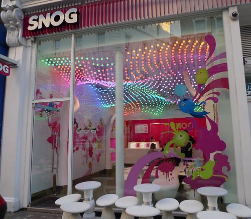 Vitrines Snog - Londres, novembre 2010