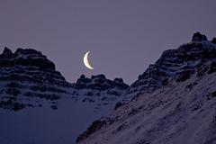 The moon at 9:30 this morning (*Jonina*) Tags: moon mountains iceland 500views ísland stöðvarfjörður fjöll tunglið stodvarfjordur absolutelystunningscapes