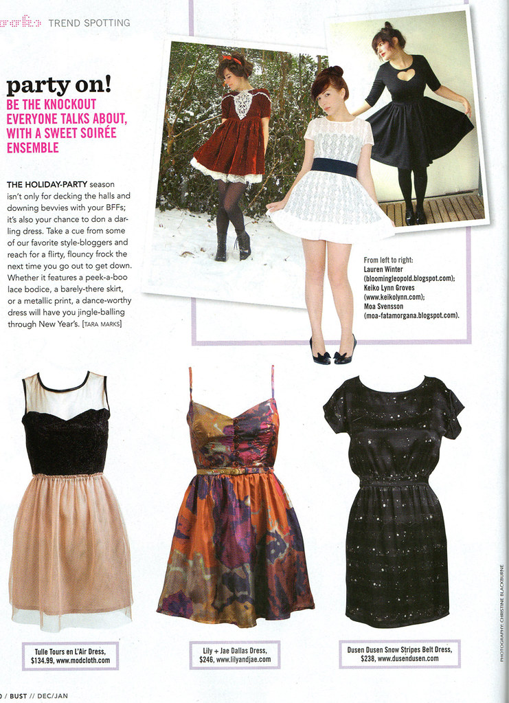bust magazine - trend spotting feature
