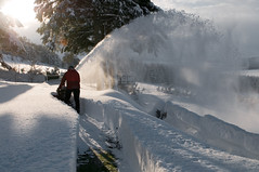Thou shall not covet your neighbour's snowblower. (James_at_Slack) Tags: winter snow scotland aberdeenshire graham snowblower commandment coull uksnow
