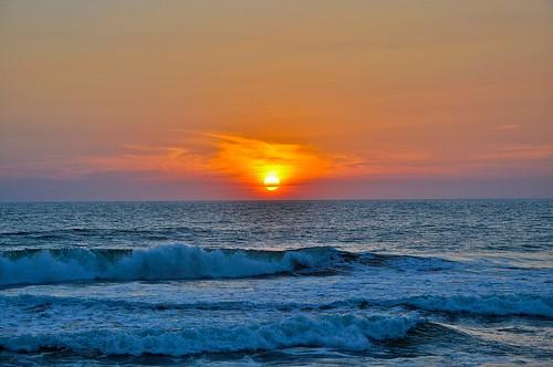 Ocaso en la playa (4)