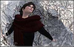 Spellbound (Acacia Merlin) Tags: winter woman snow poem secondlife treebranches