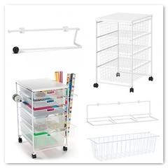 ANTONIUS vs. ELFA (Heath & the B.L.T. boys) Tags: ikea office basket ribbon cart giftwrap organize thecontainerstore