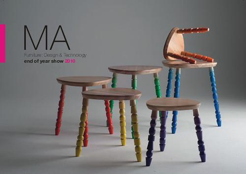 MA Furniture Design invite 2010 front page