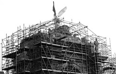 Historic photo from Sunday, December 5, 2010 - Scaffolding on the Princes Gates in 2010 in CNE