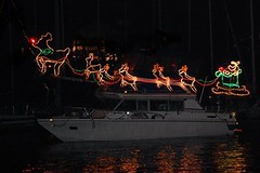 Christmas Ship Parade along the Columbia River