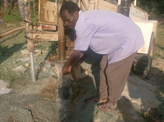 Mutsembi(shiloh)primary school-water flowing during drilling process