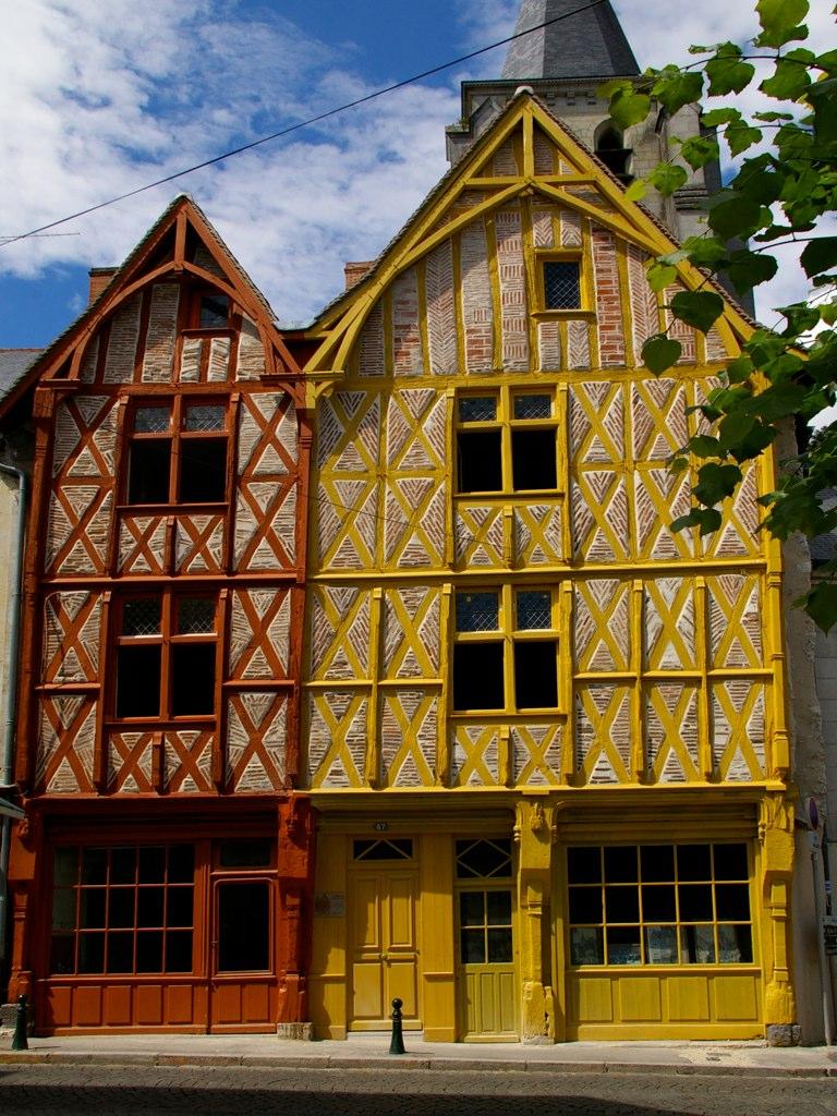 Maisons à colombages à Montrichard