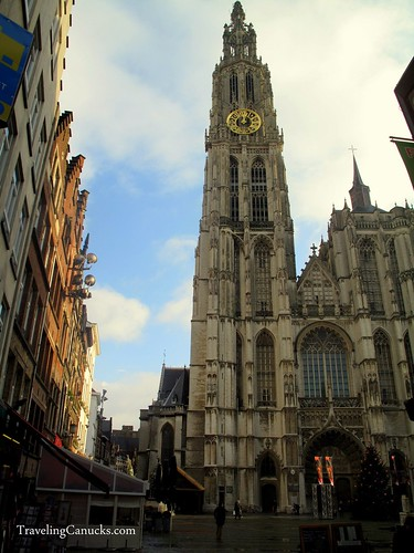 Gothic Cathedral in Antwerp, Belgium