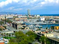 Barcelona (amber654) Tags: ocean barcelona city travel sea spain cityscape shift catalonia espana catalunya tilt portvell tiltshift worldland