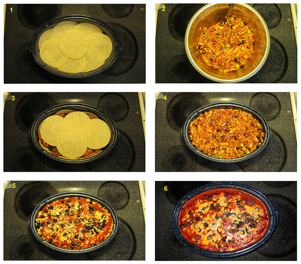 Solar Chicken Enchilada Casserole