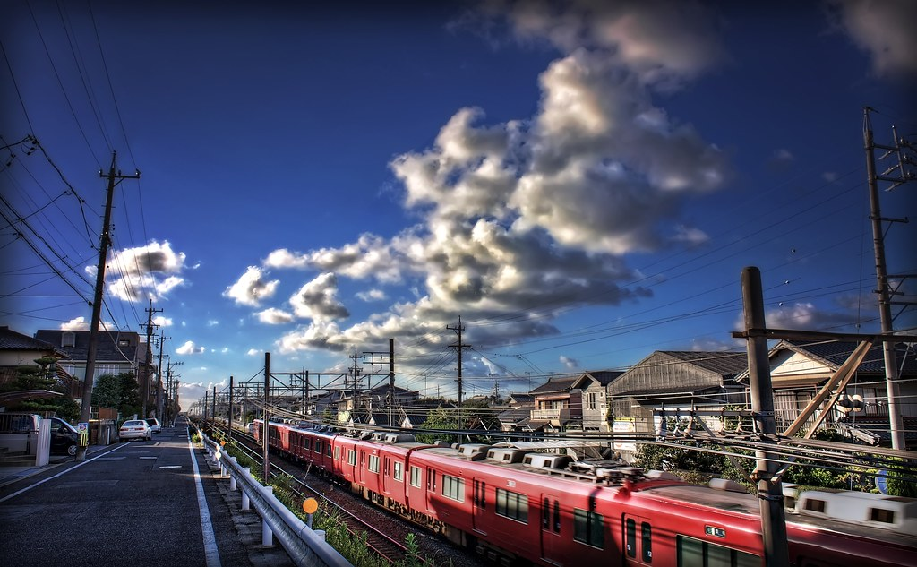 Train and Clouds