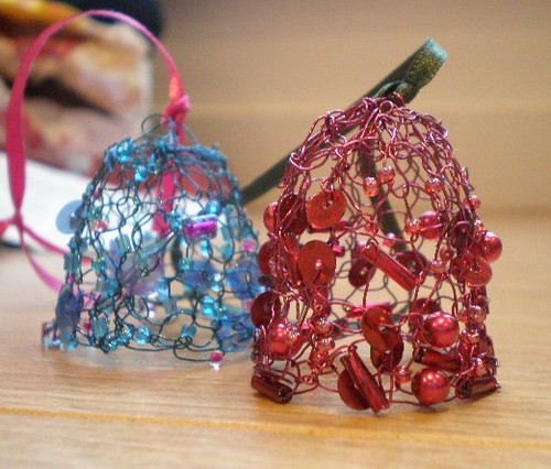 Knitted Wire Xmas Decos