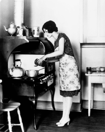 Woman in 1930s Kitchen
