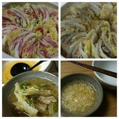 豚バラと白菜の重ね煮。うまかった!