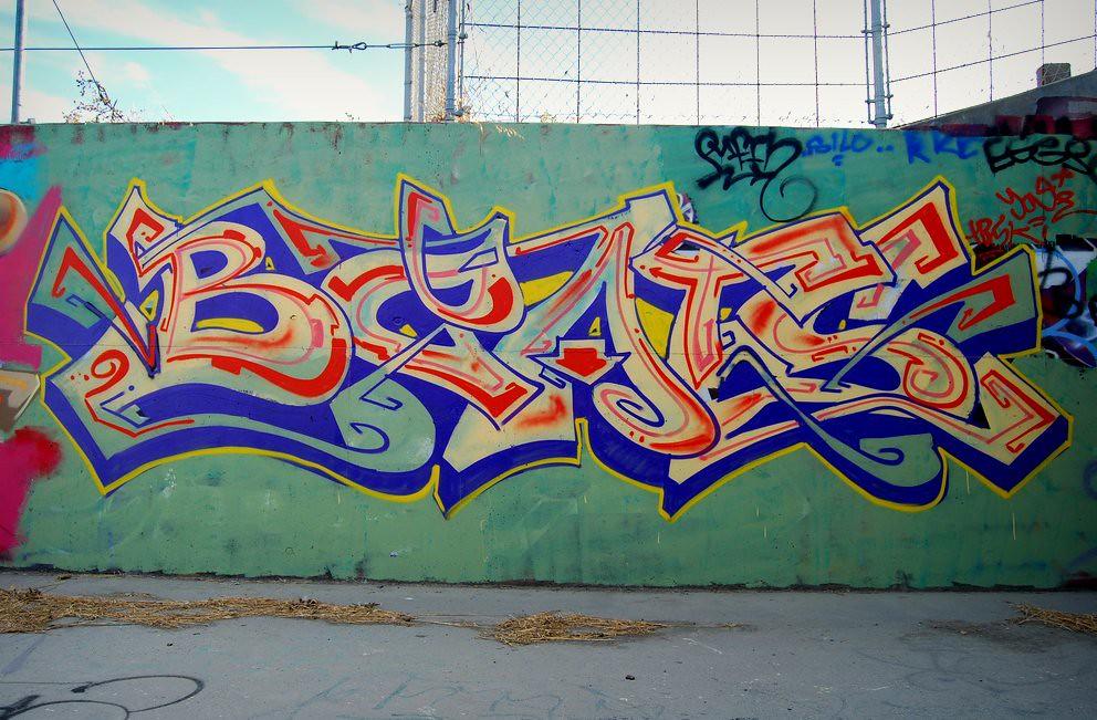 Beats Graffiti Piece in East Bay CA.