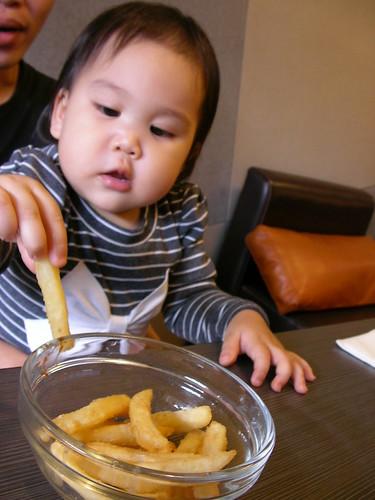 薯條好好吃喔!!!