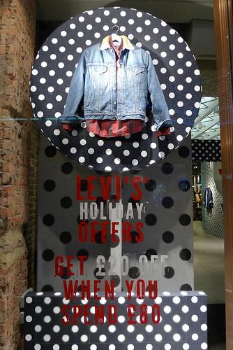 Vitrines et magasin Levi's - Londres, novembre 2010