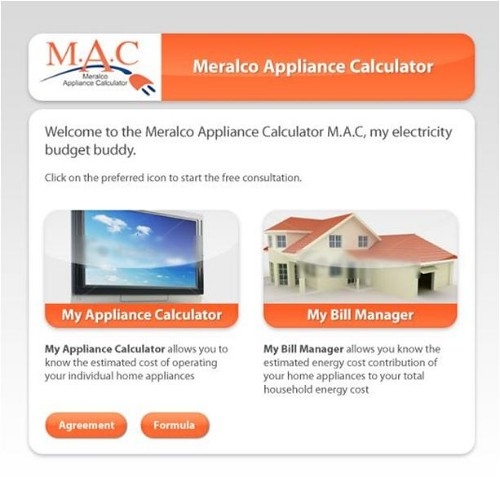 meralco appliance calculator, meralco electric bill