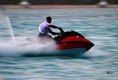 It's a Jet~Ski Time (.ღ♫°Qanas°♫ღ.) Tags: sea ski water speed fun time uae jet abu dhabi edit qanas