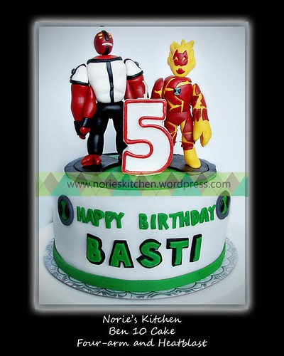 orie's Kitchen Ben 10 Cake - Heatblast and Fourarms